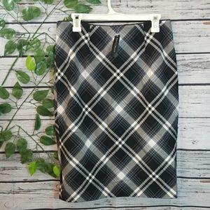 NWT White House Black Market plaid pencil skirt 10